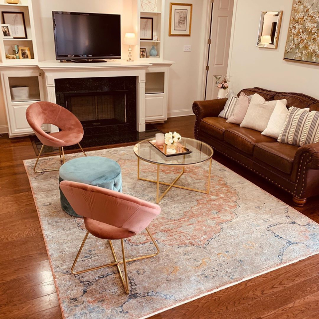 Pink home decor: accent chairs